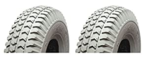 MOBILITY SCOOTER PUNCTURE PROOF TYRES 300-4 260 x 85 - REAR TYRES X 2 - SOLID TYRES