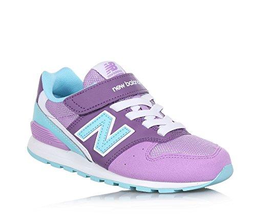 New Balance NEW BALANCE - Violett-hellblauer Sportschuh 996 preschool, aus Synthetik und Mikrofaser, mit Klettverschluss, Mädchen-33,5