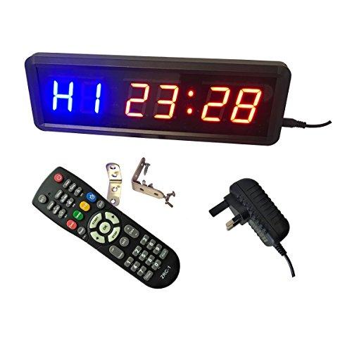 Ledgital - Timer da palestra 28 x 9x 3,5 cm con telecomando per uso interno, solo presa UK, Blue+Red