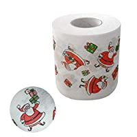 Welltobuy Christmas Toilet Paper Merry Christmas Embroidered Toilet Roll Paper Decorations Santa Claus Toilet Paper For Families Cafes Shops Restaurants