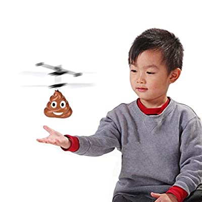 Education Toy, RC Toys, Mini RC Quadcopter Drone, TUDUZ Newest Funny Hand Flying Poop Ball Mini LED Mini Induction Suspension RC Aircraft Flying Toy Drone Gifts for Kids Adults by TUDUZ