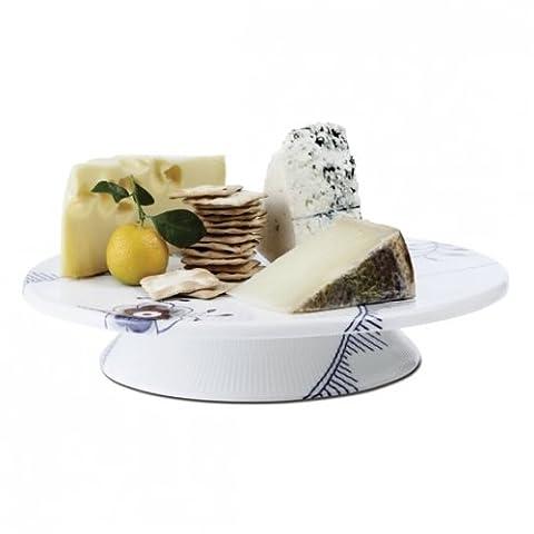 Royal Copenhagen Blue Fluted Mega Footed Cake Plate by Royal Copenhagen