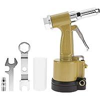 Remachadora neumática, tipo hidráulico ligero industrial Remachadora neumática de aire Herramienta de remachado de pistola neumática(Amarillo)
