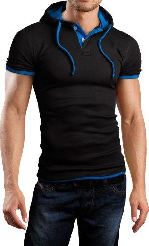 Grin&Bear Herren slim fit Poloshirt schwarz/petrol Gr. L GB105