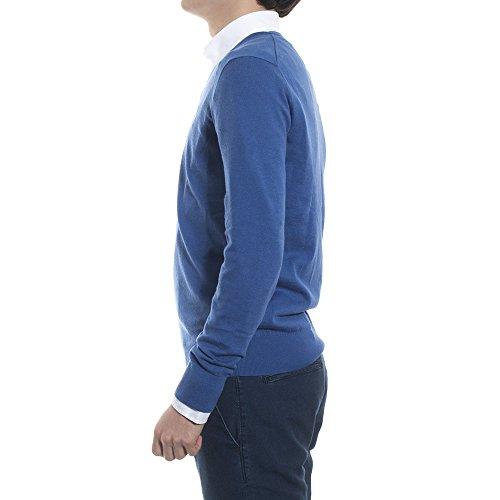 Ralph Lauren - pull ralph lauren col V bleu clair Bleu