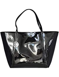 9a57c0d92b ARMANI EXCHANGE Borsa Shopping Donna 942268CC713BLACK Poliestere Nero