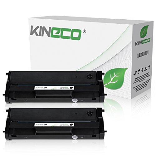 Kineco 2 Toner kompatibel zu Ricoh SP 150 Type-150 HC für Ricoh SP 150suw, SP 150w, SP 150su, SP 150 - Schwarz je 1.500 Seiten