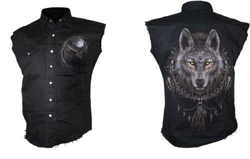 Spiral Wolf Dreams Worker Shirt - Unisex, schwarz Schwarz