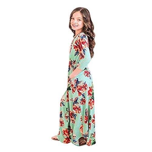 Kobay Mode Kleinkind Baby Mädchen Kind Blumendruck Prinzessin Party Kleid Outfits Kleidung