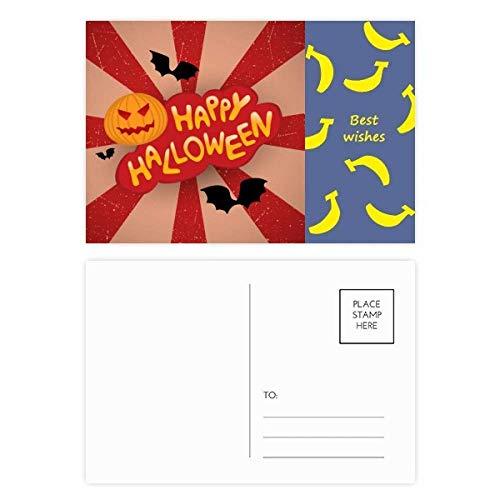 Cartoon-Halloween-Schriften, Bananen-Postkarten-Set, Danksagungskarte, Postkarte, Seite 20 Stück