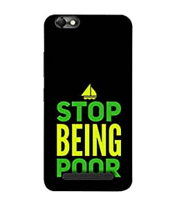 PrintVisa Designer Back Case Cover for Lenovo Vibe C :: Lenovo A2020 (Message Quote Proverbs Inspiration Motivation)