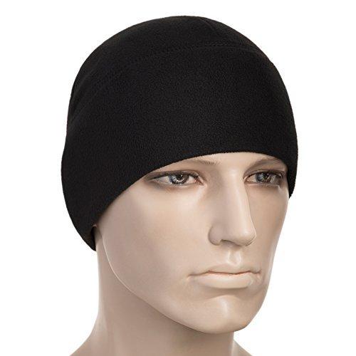 M-Tac Watch Cap Fleece 260 Mens Winter Hat Military Tactical Skull Cap Beanie Black (Large, Black)