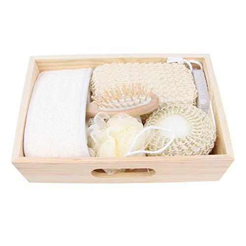 Baoblaze Set d'exfoliation Peigne de massage Boule de bain Éponge brosses Serviette