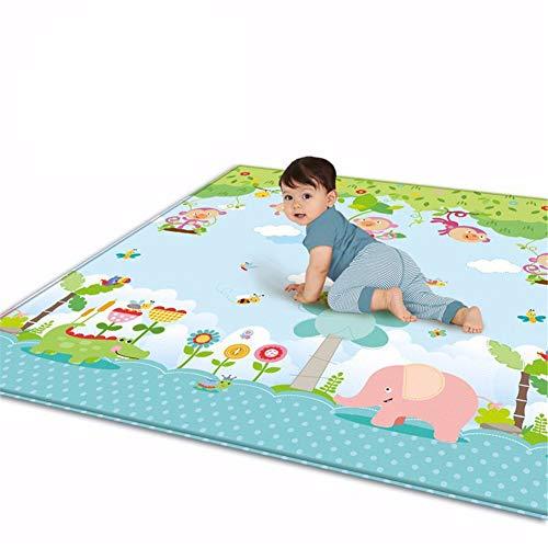 Mr. Fragile Baby-Spielmatte, Große Rutschfeste Verdickung wasserdichte Tragbare Doppelseiten-Kinderspielmatte, für Säuglinge, Neugeborene, Außen- Oder Innenbereich, 180 * 200 cm (Kinder Activity Center Mit Rutsche)