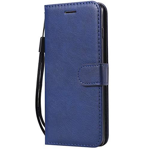S-video-tos-video (Tosim Galaxy S10 Hülle Leder, Klapphülle mit Kartenfach Brieftasche Lederhülle Stossfest Handy Hülle Klappbar für Samsung Galaxy S10 - TOKTU61882 Blau)