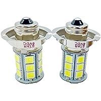 cayun 2x 6V P26S 24SMD LED blanco bombilla para coche moto motocicleta Faro para halógeno Luz Frontal de repuesto 6000quilates