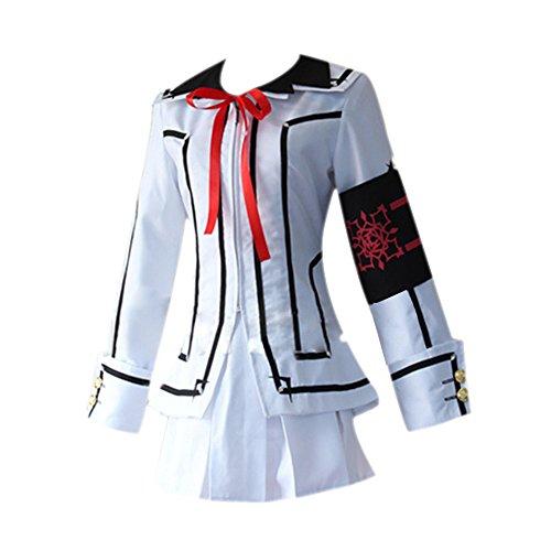 re Knights Uniform Kuran Yuki Lolita Kleid Herren Cala Kaname College Uniform Anzug Halloween Cosplay Kostüme (Kuran Yuki Kleid-Weiß, X-Large) (College Kostüme Sexy)