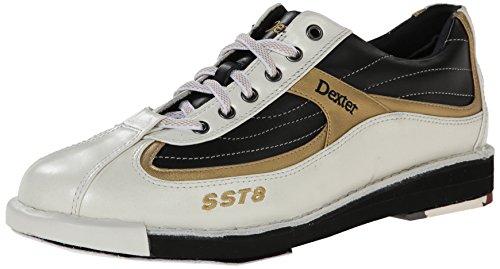 Dexter Herren SST 8Bowlingschuhe Weiß - White/Black/Gold