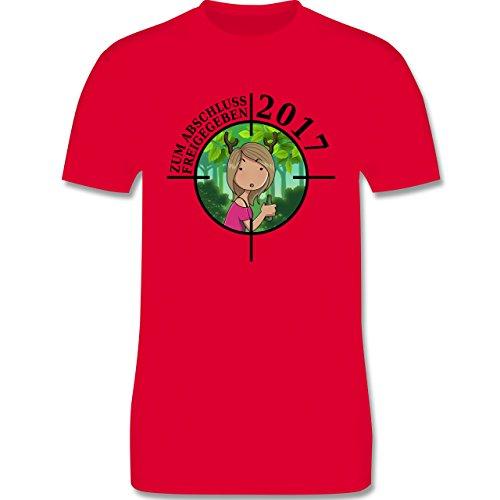 Abi & Abschluss - Zum Abschluss freigegeben 2017 - Mädchen - Herren Premium T-Shirt Rot