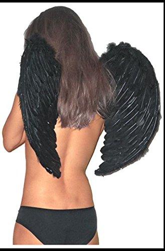 Motto Kostüme K (Engelsflügel schwarze Engel Flügel 60x50 Dessous Kostüm für)