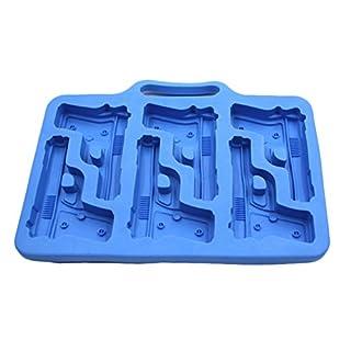 amazing-trading(TM) Gun Pistol Ice Silicone Mould Tray, Blue