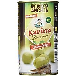 Karina Grüne Manzanilla-Oliven gefüllt mit Anchoa-Paste, Dose, 12er Pack (12 x 150 g)