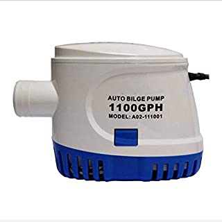 AYLS Drrie Bilge Pump Submersible Pump 1100 GPH Water Pump With Float Switch For Marine Boat Yacht 12V24V,12V