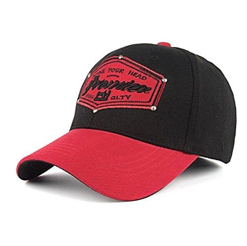 Funny hat Printemps Automne Unisexe Loisirs Simplicité Coton élastique Broderie de Baseball/Casual Sport Outdoor Snapback Casquette avec Broderie Prem