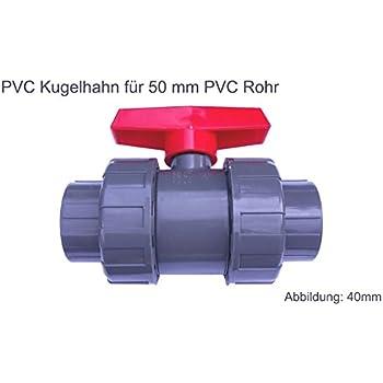 32 mm Blu AQUAFORTE Valvola acquaforte PVC Palla con bilaterale /Ã/œberwurf Econo-Line