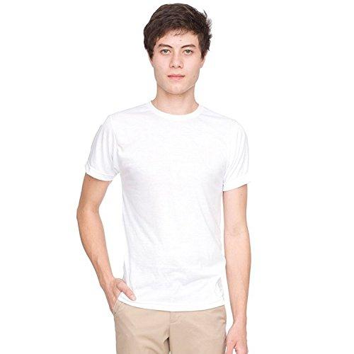 american-apparel-t-shirt-a-manches-courtes-homme-m-blanc