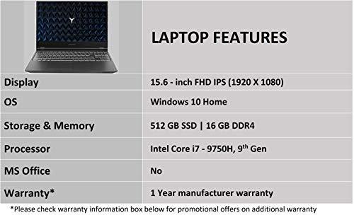 Lenovo Legion Y540 9th gen Intel Core i7 15.6-inch FHD Gaming Laptop (16GB/512GB SSD/Windows 10/NVIDIA GTX 1650 4 GB Grahpics/Black/2.3Kg),81SY00EXIN Image 4