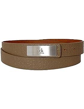 CALVIN KLEIN Damengürtel logo pattern brown
