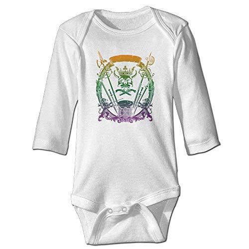Monicago Neugeborenes Baby Jungen Mädchen Babybody Lange Ärmel Lion Drums Skull Baby Unisex Bodysuits Long-Sleeve Onesies (Kostüm Lion Neugeborene)