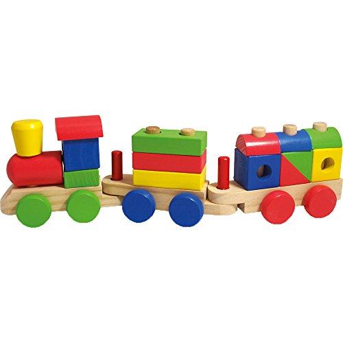 Beluga Spielwaren 77048 - Holzsteckzug, 18-teilig