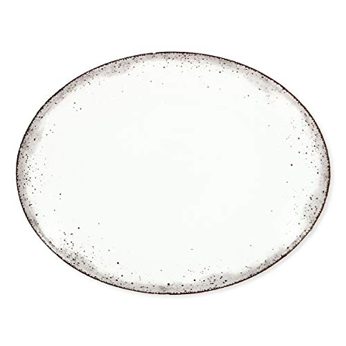 Bruno Evrard Plat Ovale en Porcelaine 38x29cm - MAJORQUE