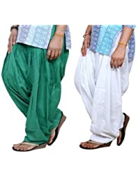 ROOLIUMS ® (Brand Factory Outlet) Punjabi Patiala Salwar Pack -2 Free size (Green,White)