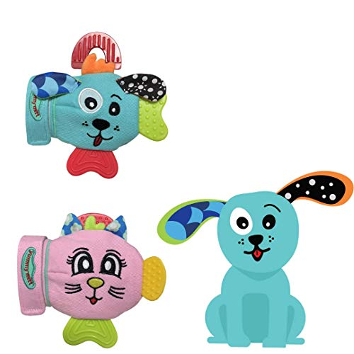 Yummy Mitt Teething Mitten-Self-Soothing Entertainment and Gives Pain  Relief from Teething Plus It's an Ideal Set of Two (1 Cat & 1 Dog