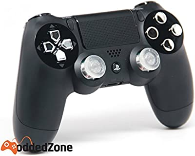 Black/Chrome Ps4 Rapid Fire Custom Modded Controller 35 Mods BO2, BO3, Advanced Warfare, Destiny, Ghosts, MW3 Quick Scope Auto Run Sniper Breath and More