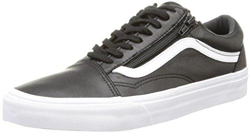 Vans U Couro Skool Zip De Idade, Unisex-erwachsene Sneaker Schwarz (couro Premium / Preto)