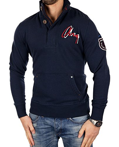 ARQUEONAUTAS Herren Sweatjacke leichte Jacke Übergangsjacke Pullover 1532 Modell 7 Dunkelblau