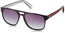 Tommy Hilfiger Gradient Square Mens Sunglasses - (7870 Blkgr-35 C1 57 S|57|Grey Color)