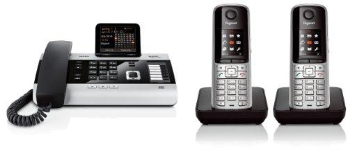 Siemens Gigaset DX600A DUO SET mit 2x S810H Mobilteil - ISDN, Anrufbeantworter, Bluetooth® ECO DECT, schwarz