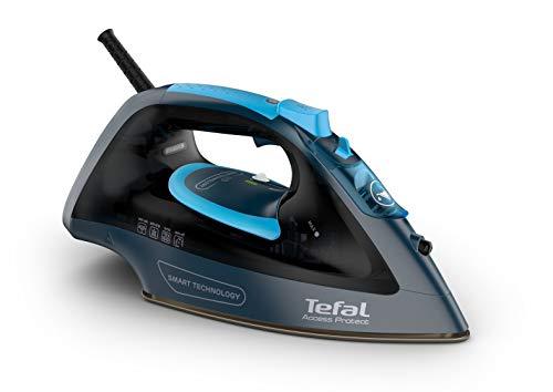 Tefal Access Protect FV1611E0 - Plancha de vapor 2100 W, no necesita configuración, golpe de vapor 100 gr/min, vapor continuo de 25 gr/min con suela cerámica, Modo Eco y ligera, para todo tipo de ropa