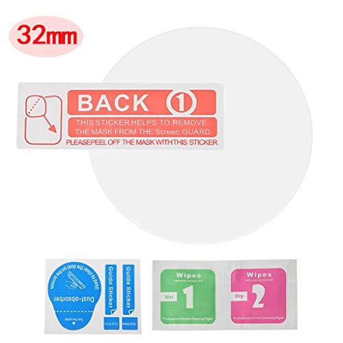Lisanl 29-43 mm Uhrenschutzfolie, universal, r&, gehärtetes Glas, Bildschirmschutzfolie für Samsung Gear Huawei LG Xiaomi Smart Watch D
