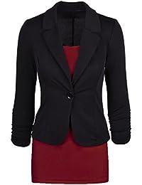 Babyonlinedress Chaqueta de traje para mujer estilo ajustado y casual