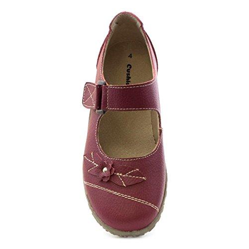 Kissen Walk Damen rot Leder Komfort Bar Schuh Rot
