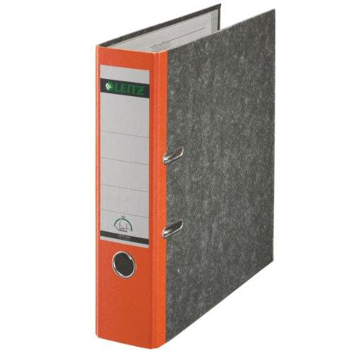 Preisvergleich Produktbild Leitz 10805045 Qualitäts-Ordner Wolkenmarmor-Papier (A4, 8 cm Rückenbreite) orange