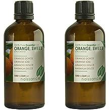 Naissance Olio Essenziale di Arancio Dolce - Puro al 100% - 200ml (2x100ml)