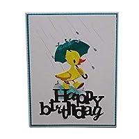 YSoutstripdu Cutting dies Umbrella Duck Metal Stencil Album Paper Card Craft gift- Silver