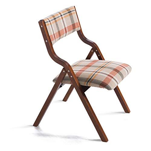 High-dining Patio-möbel (RONG HOME Lounge Chair Kitchen Dining Stool Kaffeestuhl Faltbarer Gartenstuhl Massivholzbeine Arbeitsstuhl Soft Seat waschbar mit Rückenlehnen,E)